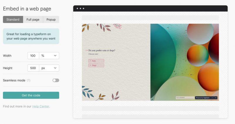Typeform là một công cụ đẹp mắt