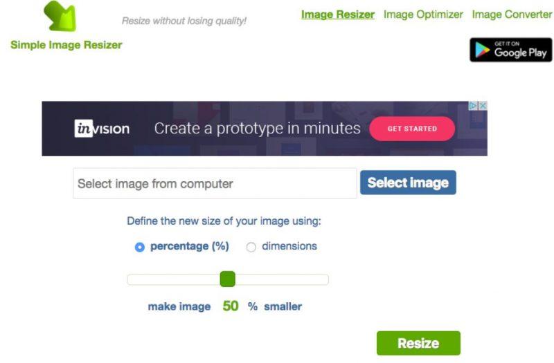 Simple Image Resizer