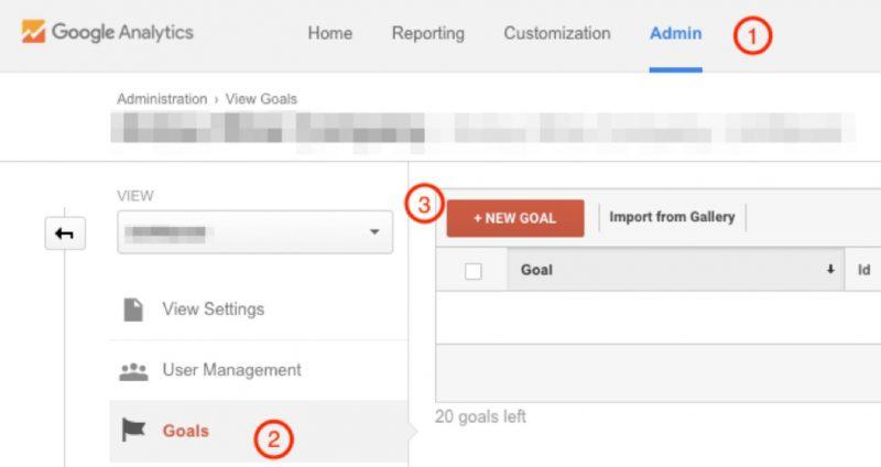 Thêm mục tiêu truyền thông xã hội trong Google Analytics