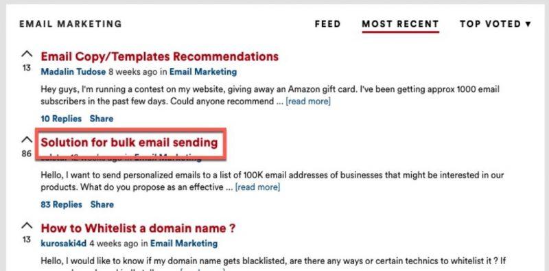 chiến dịch email hàng loạt